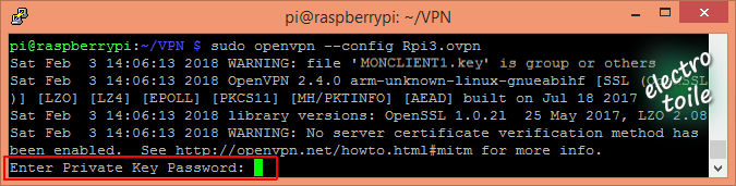 password client OpenVPN