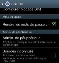 bloquer applications de sources inconnues